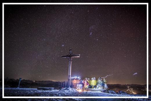 Sternenhimmel Radstadt Rossbrand Winternacht Schladming Obertauern Flachau