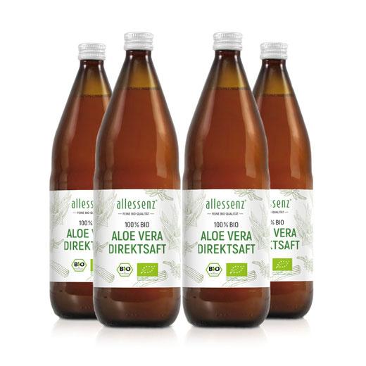 100% Bio Aloe Vera Direktsaft | aus kontrolliert biologischem Anbau