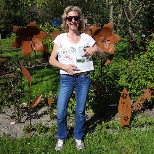 Kleine Kate Kunsthandwerk in der Gartenzeitschrift Künstlerin Birgit Sedlak Metallkunst metal art