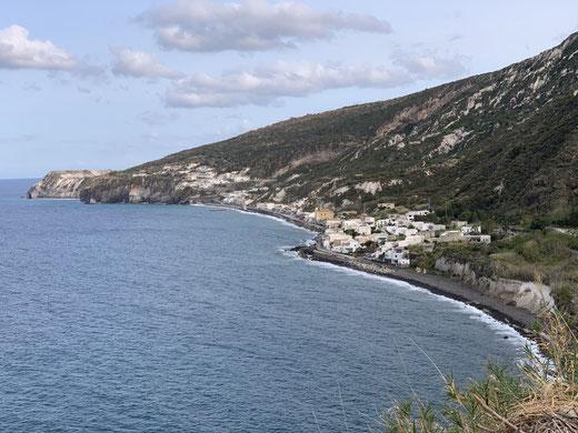 Italien, Sizilien, Liparische Inseln, Äolische, Lipari, Sehenswürdigkeit, Vulkan, Schwefel, Obsidian, Portocello, schwarzer Sandstrand