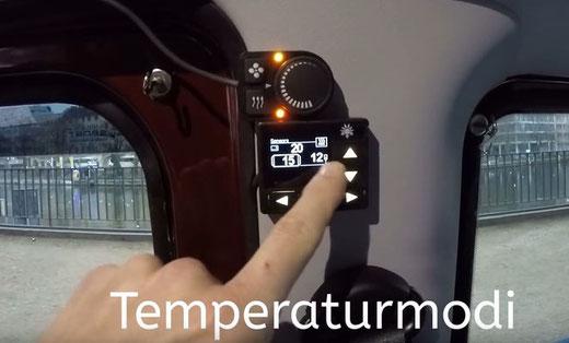 Hier erkennt man, dass ein ext. Temp. Sensor verbaut ist. (12°)