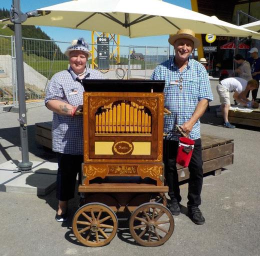 Das Organistorenpaar Jacqueline und Wisi Schwyter-Rupli.