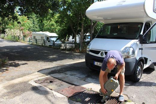 Entsorgungsstation in Nuoro. Außerhalb von Camping- und Stellplätzen sorgen inzwischen auch einige Kommunen für diesen Service