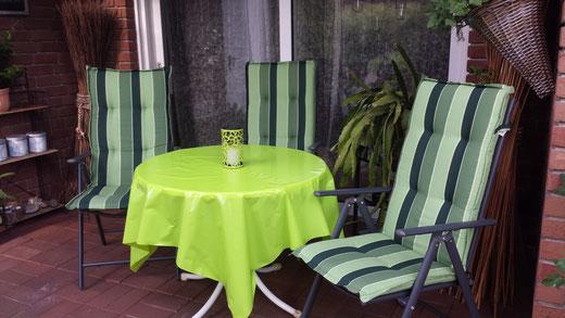 Terrasse Ferienwohnung An der Birke Bramsche