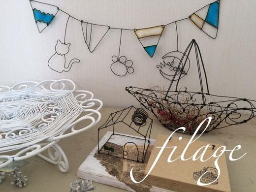 filageワイヤークラフト作品例