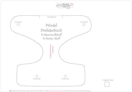 Windel für Dreikäsehoch - Barbaras Puppen Welt Dreikäsehoch Puppen ...