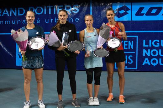 Anna Blinkova et Alexandra Panova (à gauche) grandes gagnantes du double 2018. Crédit photo : IFV