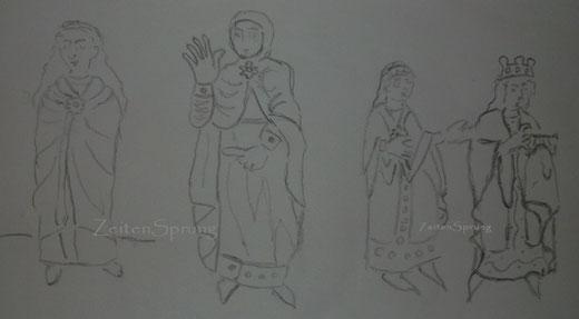 meine Zeichnung nach dem Stuttgarter Psalter, Quelle : digital.wlb-stuttgart.de