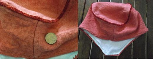 der Zierstich an der Mütze aus Oostrum hat nicht nur schmückende sondern auch formende Funktion
