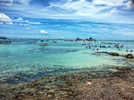 Sicht auf El Aquario von Haynes Cay