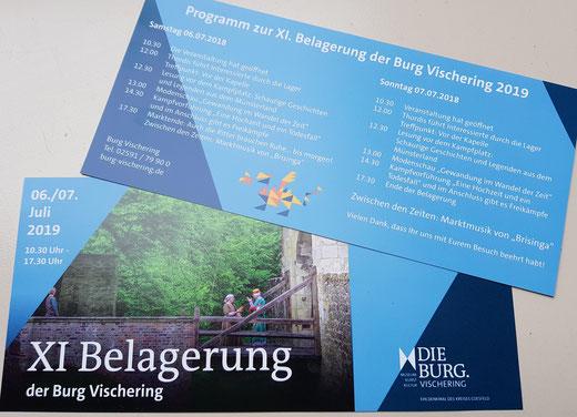 Flyer zur XI: Belagerung der Burg Vischering