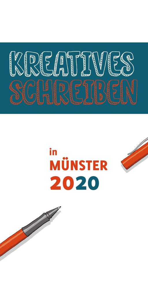 """Mit Stift und Papier: Broschüre """"Kreatives Schreiben in Münster 2020"""""""