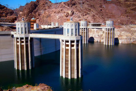 Hoover Dam, Lake Mead, Boulder City, Nevada, Arizona, USA, Die Traumreiser