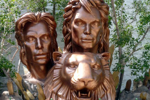 Siegfried und Roy, Tiger, MIrage, Show, Las Vegas, Nevada, USA, Die Traumreiser