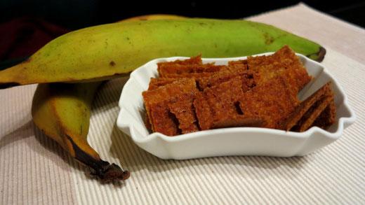 Paleo Kochbananen Cracker