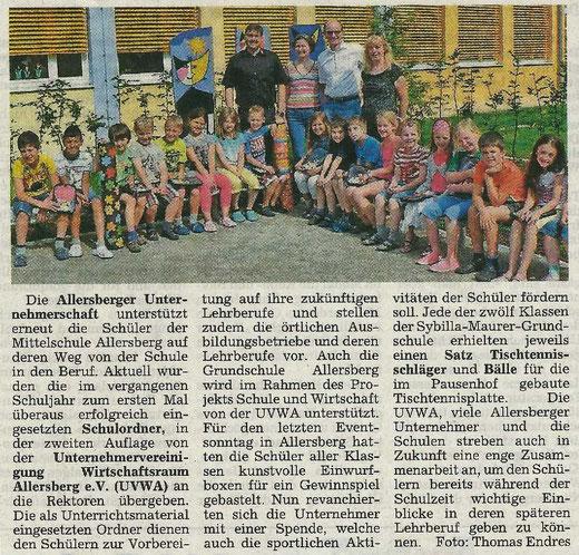 Artikel: Wochenanzeiger 25.07.2013