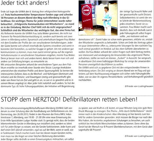 Artikel: Mitteilungsblatt Markt Allersberg September 2013
