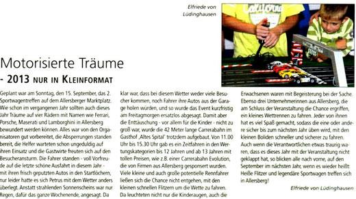 Artikel: Mitteilungsblatt Markt Allersberg Oktober 2013