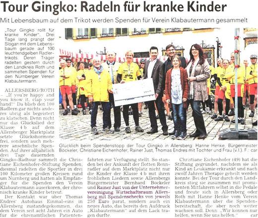 Artikel: Roth - Hilpoltsteiner Volkszeitung 28.06.2013
