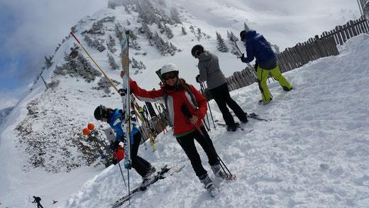 Julia nach ihrer 1. Skitour