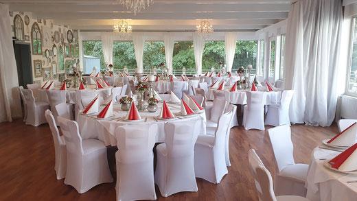 Partysaal für Geburtstage, Familienfeiern und Jubiläen