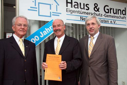(v.l.) Gerd schulte, Wilfried Gothe, Klaus Kaiser