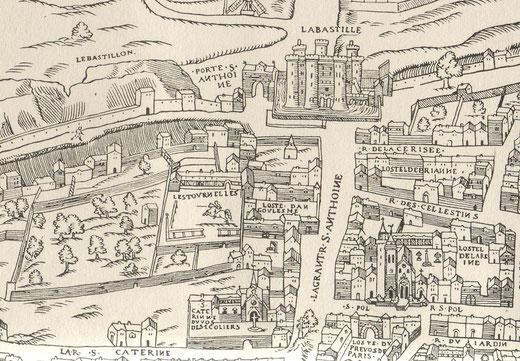 Château et jardin demeurent séparés sous le règne d'Henri IV.