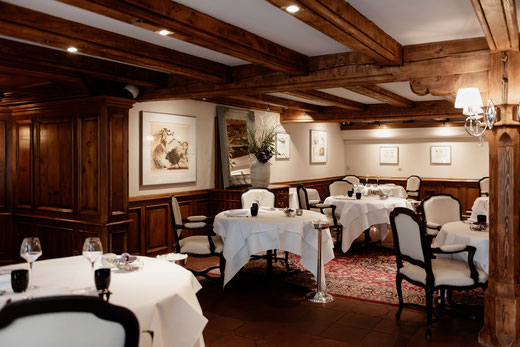 Fachwerkhaus des Hotel-Restaurants Le Relais de la Poste in La Wantzenau im Elsass