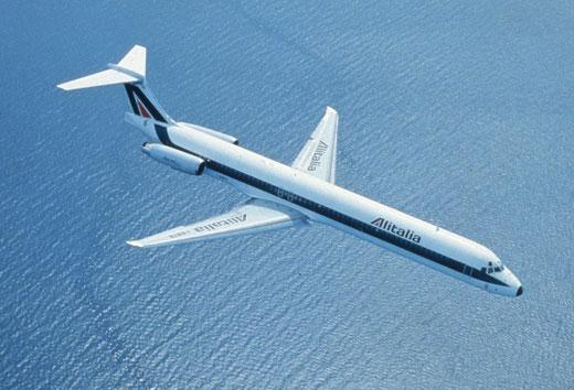 Das klassische Farbschema der Alitalia stand den MD-80 sehr gut!Courtesy: Alitalia