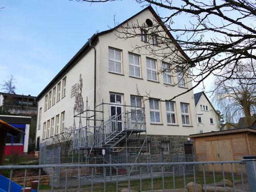 Bürgerhaus in Uckersdorf mit Brandschutztreppe