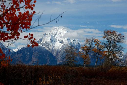 Grand Teton National Park im Herbst, Wyoming, USA