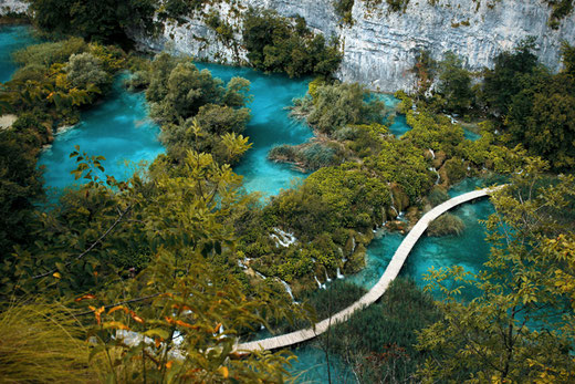 Plitvice Lakes in Croatia , road trip Croatia