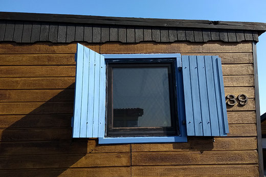 Window frames, design, cabin, wooden house, DIY