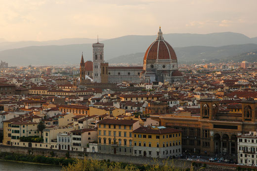 Florence from Piazzale Michelangelo in the evening