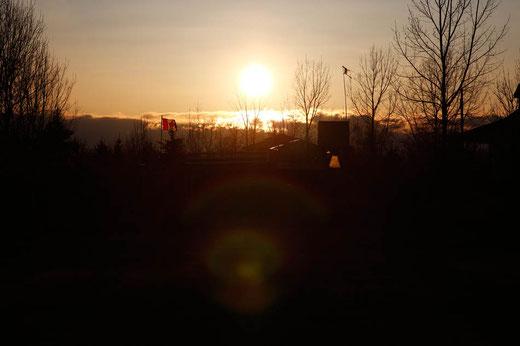 Sonnenuntergang Kanada, Fort MacLeod