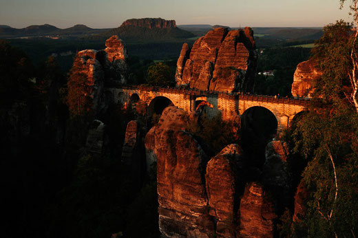 Bastei Bridge in the Elbe Sandstone Mountains, Saxony, Germany, bucket list Germany, travel Germany
