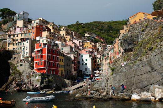 Blick auf Riomaggiore, Cinque Terre