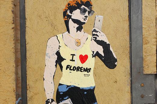 Straßenkunst in Florenz