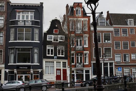 Schiefe Häuser in Amsterdam, Architektur Amsterdam