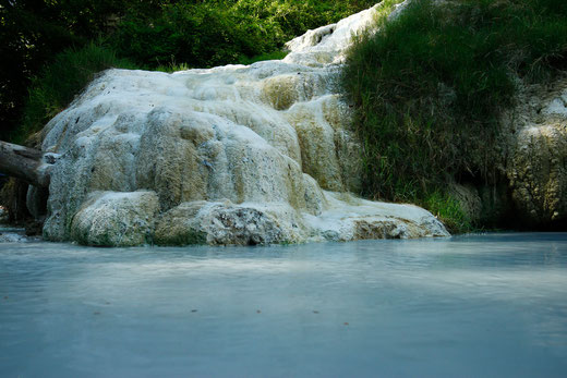 Bagni San Filippo in Tuscany, hot springs, nature in Italy, Italy trip