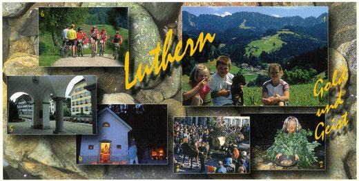 """Luthern, Ansichtskarte """"Gold und Geist"""" 2002, Fotos Pius Häfliger (LD 33)"""
