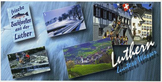 """Luthern, Ansichtskarte """"Luuters Wasser"""" 2002, Fotos Pius Häfliger (LD 32)"""
