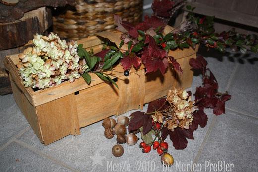 Marlen Preßler, unikate mit liebe, Menze 2010, Herbstdeko, Herbstkranz, Naturmaterialien