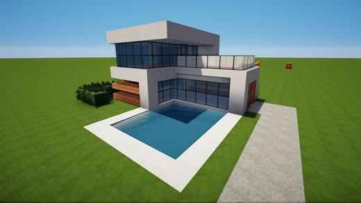 Neueste Häuser Minecraft Häuser Bauen Webseite - Minecraft modernes haus aus holz