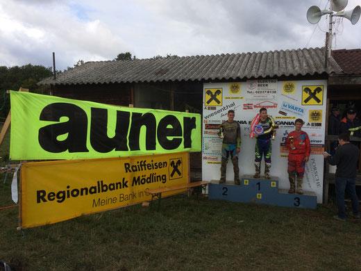 Siegerehrung 2ter Lauf auner MX2 Cup in Sittendorf 2017