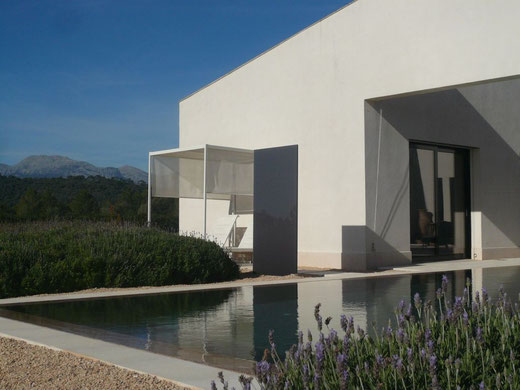 Knumox sind Designelemente aus Glas oder Beton, welche ganz ohne störenden Rahmen in der modernen Gartengestaltung eingesetzt werden können