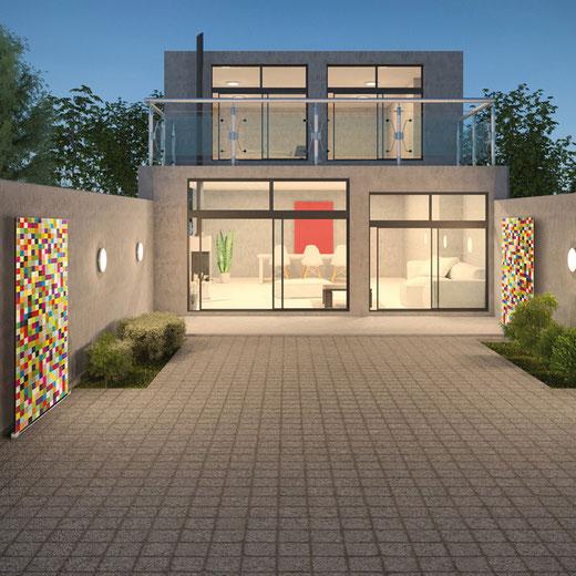 Knumox Pixel Element für den Modernen Garten - Kunst im Garten