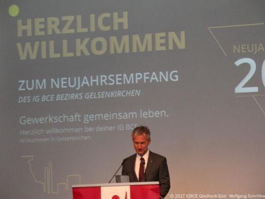 Foto: Neujahrsempfang IG BCE Bezirk Gelsenkirchen 2017, OB Frank Baranowski