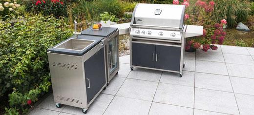 Geniessen Sie Zeit draussen, kochen Sie mit Freunden, schauen Sie sich unsere Outdoorküchen an.