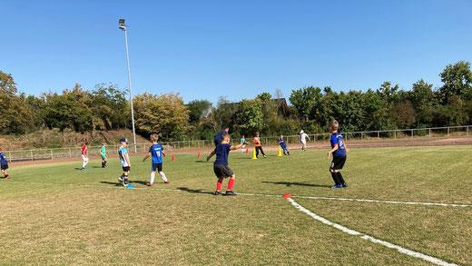 Die F-Jugend trainiert. (Foto. Frank Kuczinski)